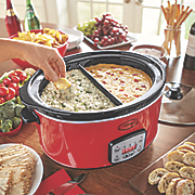 digital 6 5 qt  divided slow cooker with insert by ginny s