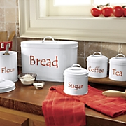 set of 4 canisters w breadbox