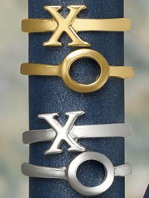 2-Piece XO Stack Ring Set