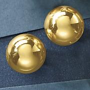 hemi sphere post earrings