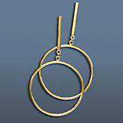 circle drop post earrings
