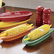 set of 4 corn plates