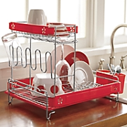 double decker dish rack