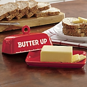 butter up  butter dish