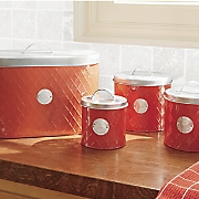 4 pc  canister breadbox set