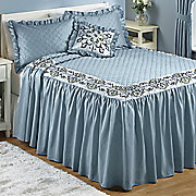 cynthia embroidered bedspread set