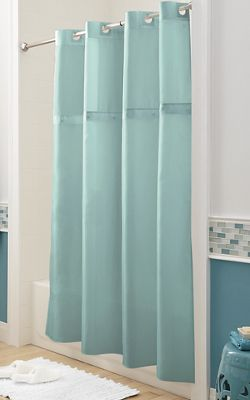 Easy-On Shower Curtain with Liner