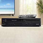 dual vhs dvd player by philips 15