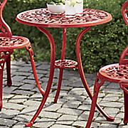 colorful aluminum bistro table