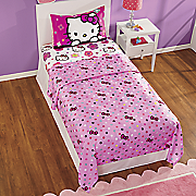 hello kitty floral ombre sheet set