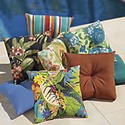 set of 2 pillows with button
