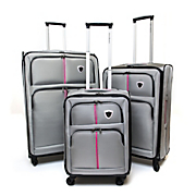 3 piece luggage set by steve harvey