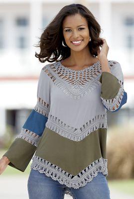 Kick-Back Crochet Top