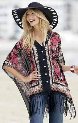 Fair and Square Fringe Top