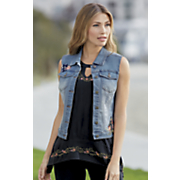 patch denim vest