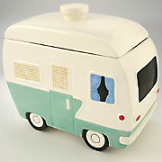 vintage camper cookie jar