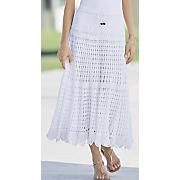 tie front crochet skirt