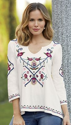 Kyanne Embroidered Top