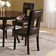 set of 2 rectangle cutout dining chairs