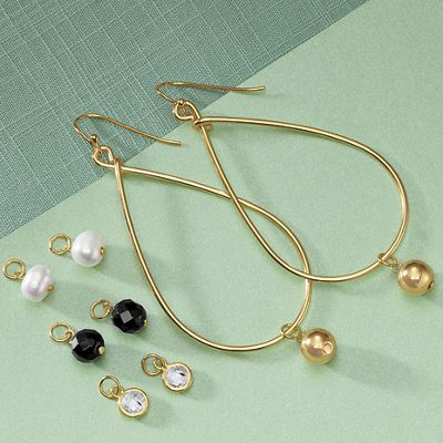 Wire Drop Earring Set with Charms