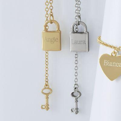 Name Lock/Key Pendant