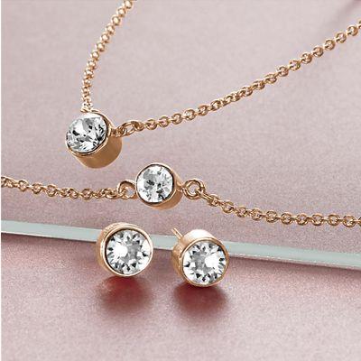 Crystal Necklace/Bracelet/Earring Set