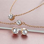 crystal necklace bracelet earring set