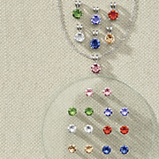 7 color crystal pendant or earring set