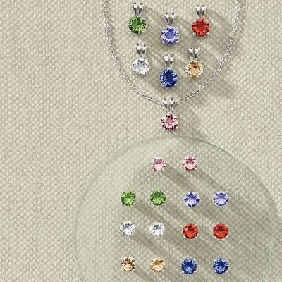 7-Color Crystal Pendant or Earring Set