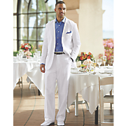 linen blend suit by steve harvey