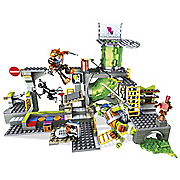 teenage mutant ninja turtles sewer lair play set by mega bloks