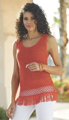 Summer Fringe Crochet Sweater