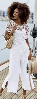 Paulina Crochet Top and Culottes