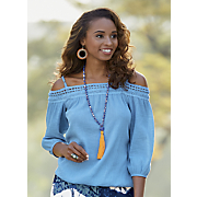 sheila cold shoulder top