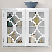 lattice two door cabinet