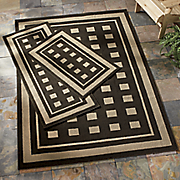 3 pc  silhouette indoor outdoor rug sets