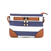 striped crossbody