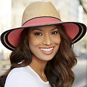 wide brimmed multicolor hat