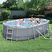 13 9  power steel frame oval pool by bestways