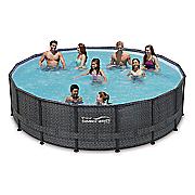 wicker pattern metal frame pools by summer waves