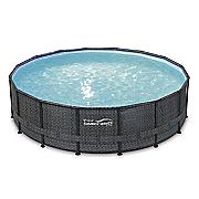 16  wicker pattern elite metal frame pool by summer waves