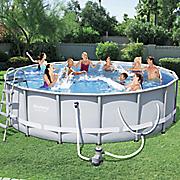 16  power steel frame pool by bestways