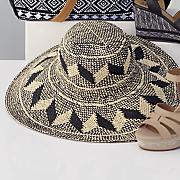 geometric floppy hat