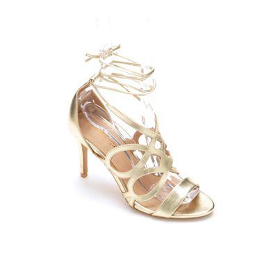 Tie-Wrap Heeled Sandal by Midnight Velvet