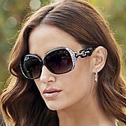 oversized sunglasses with swarovski crystals