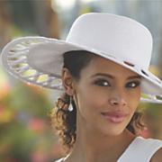 carla wide brimmed hat