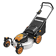 19  electric 3 in 1 push mower with caster wheels by worx