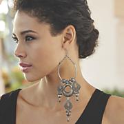 filigree bead earrings