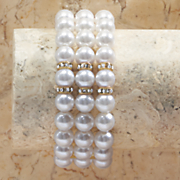 faux pearl stretch bracelet 3