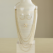 faux pearl jewelry collection